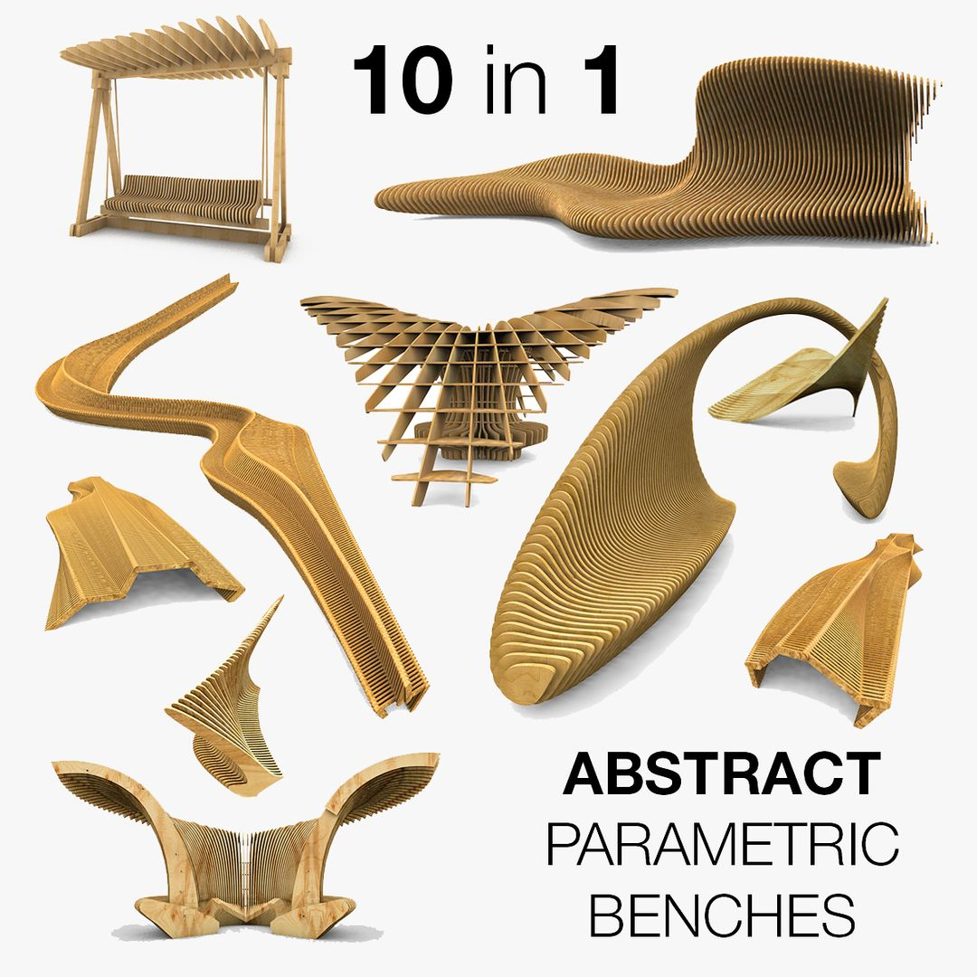 Parametric Wood Bench Design 001 jpg