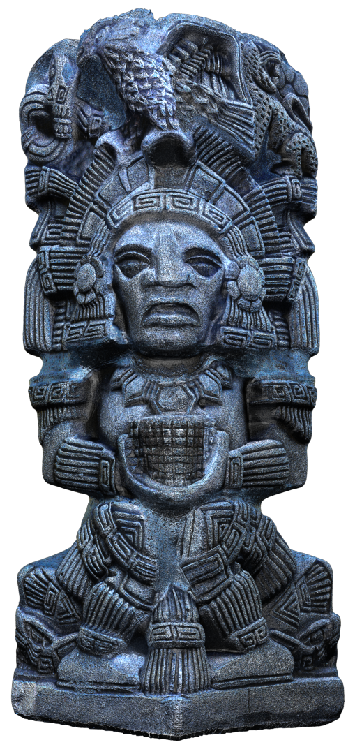 Aztec Statue 3D Modeling and Texturing Image013 png