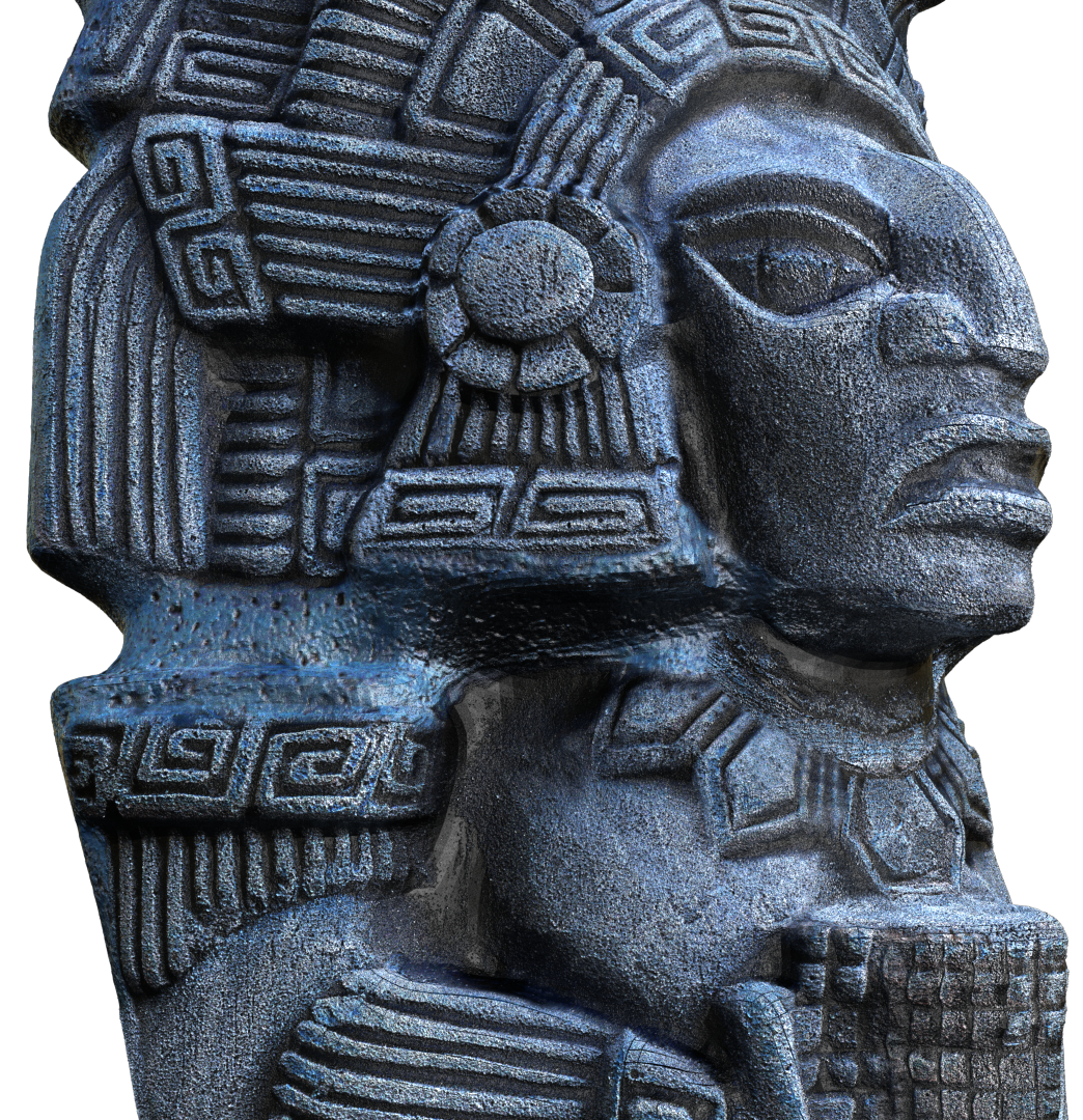 Aztec Statue 3D Modeling and Texturing Image015 png