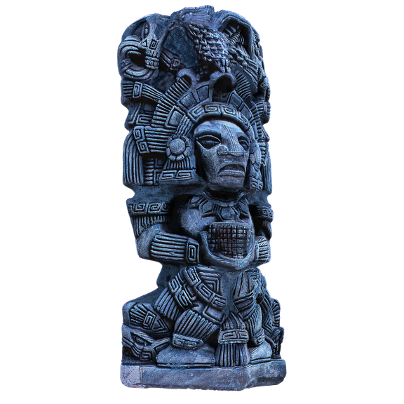 Aztec Statue 3D Modeling and Texturing