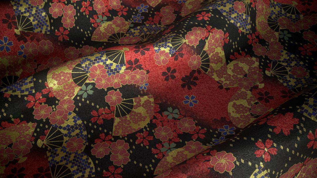 Fabric Substance Designer Textures Substance Japanese Kimono jpg