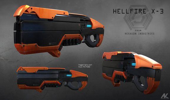 Hellfire X-3 Gun Concept