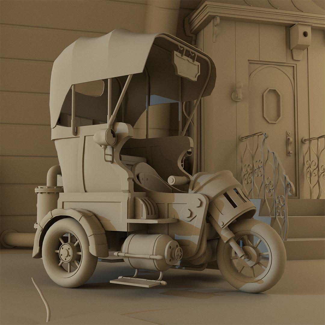 Steam punk Taxi 1 TucTuc Single Enviro01 jpg