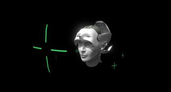 Cyborg head from GitS