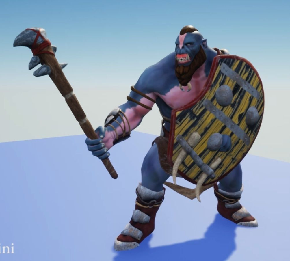Org Rigging and Animation for unrealengine Orc jpg