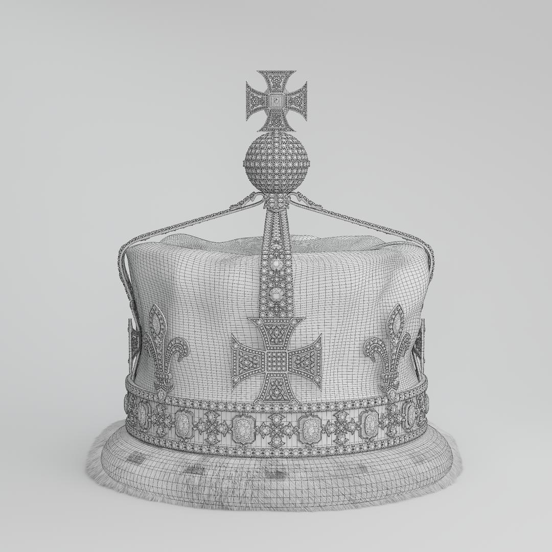 Queen Elizabeth The Queen Mother's Crown 1937 Crown (00012) Wire png