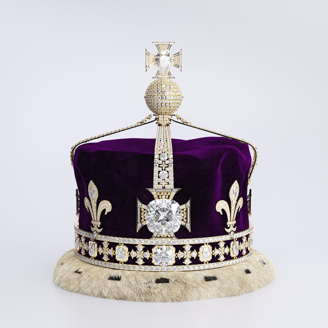 Queen Elizabeth The Queen Mother's Crown 1937 Turntable Color 00000 png