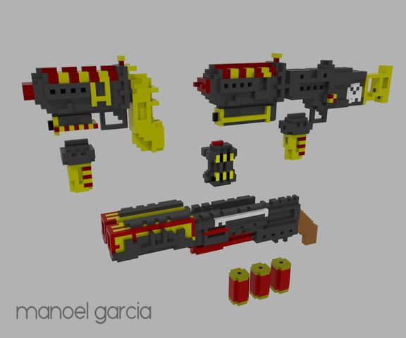 SCI-FI Weapons Set