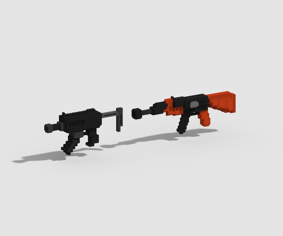 voxel art GUN png