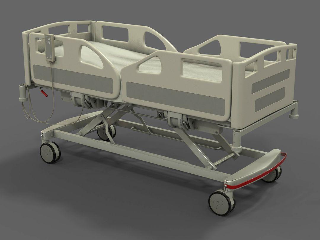 Hospital Bed for CG / VFX render03 fix jpg