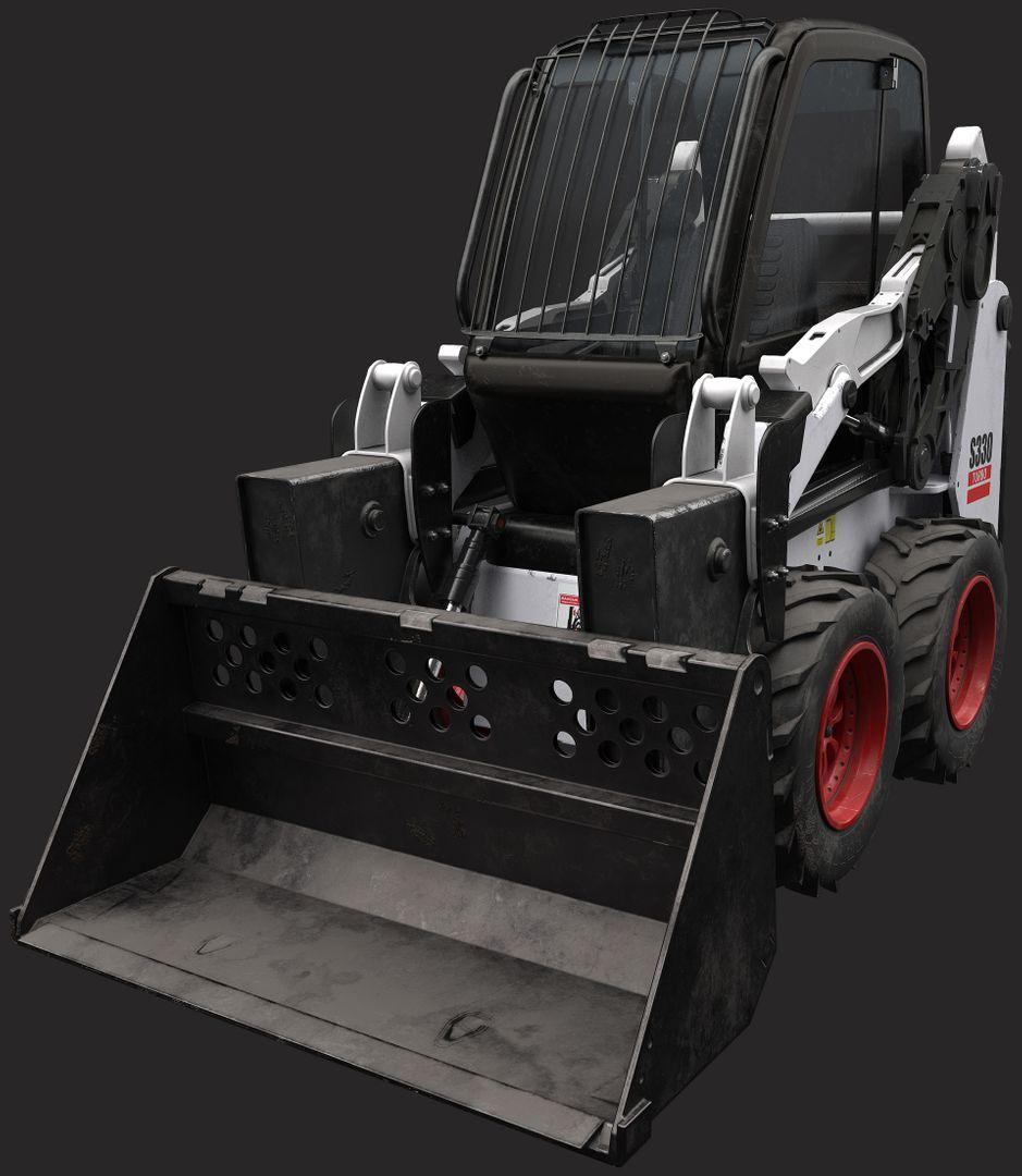 Digger Model paul bannon final lowpoly render 3 jpg