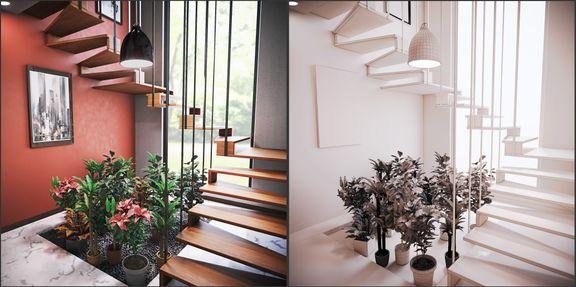 Interior Staircase Scene