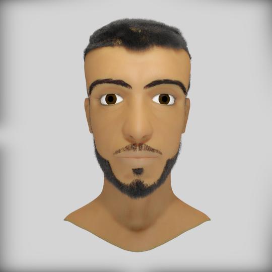 My friend's portrait faysal render png