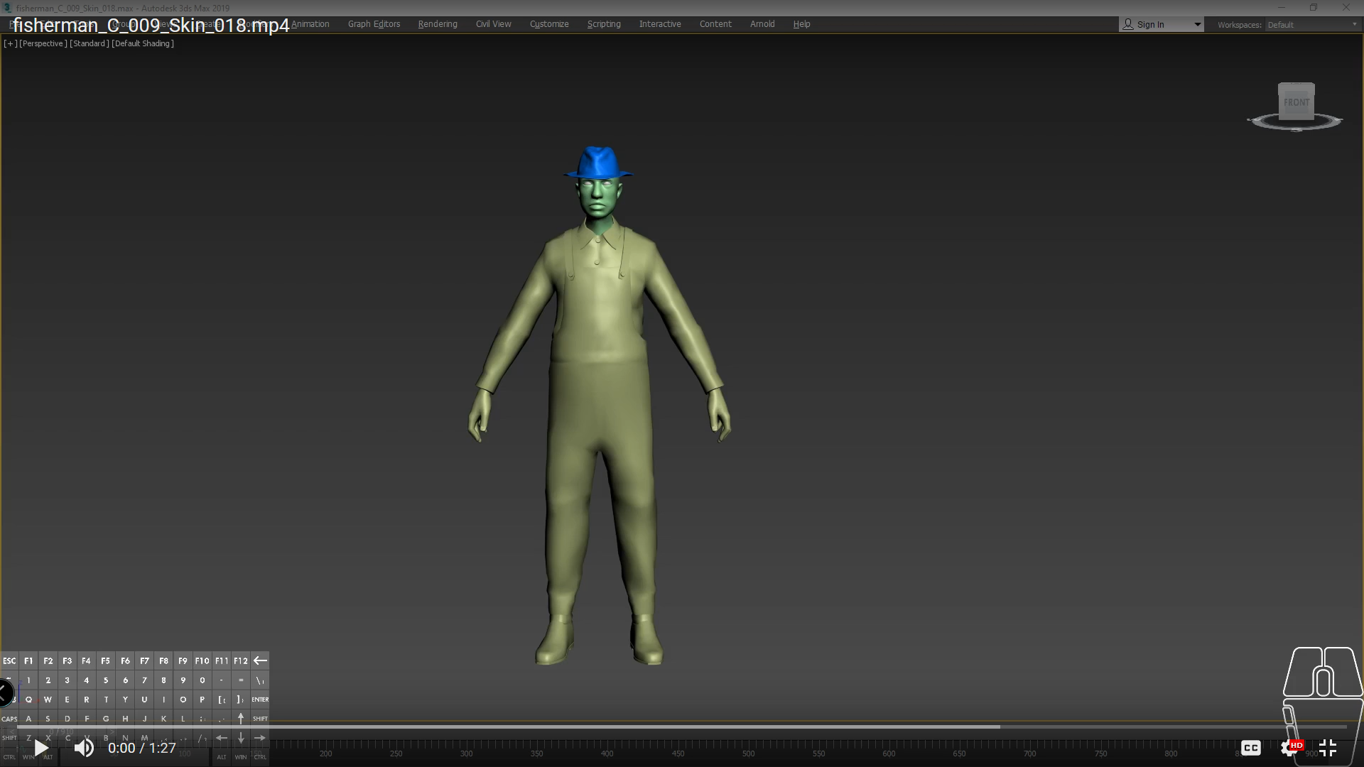 Rig, Skin and Animation in Biped