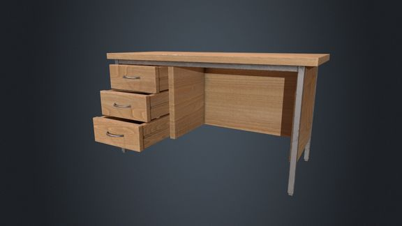 Beech Wood Office Desk