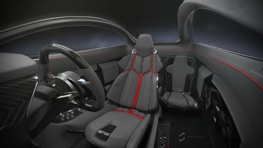 EX1 Concept Supercar sebas gomez ex1 interior 1 jpg