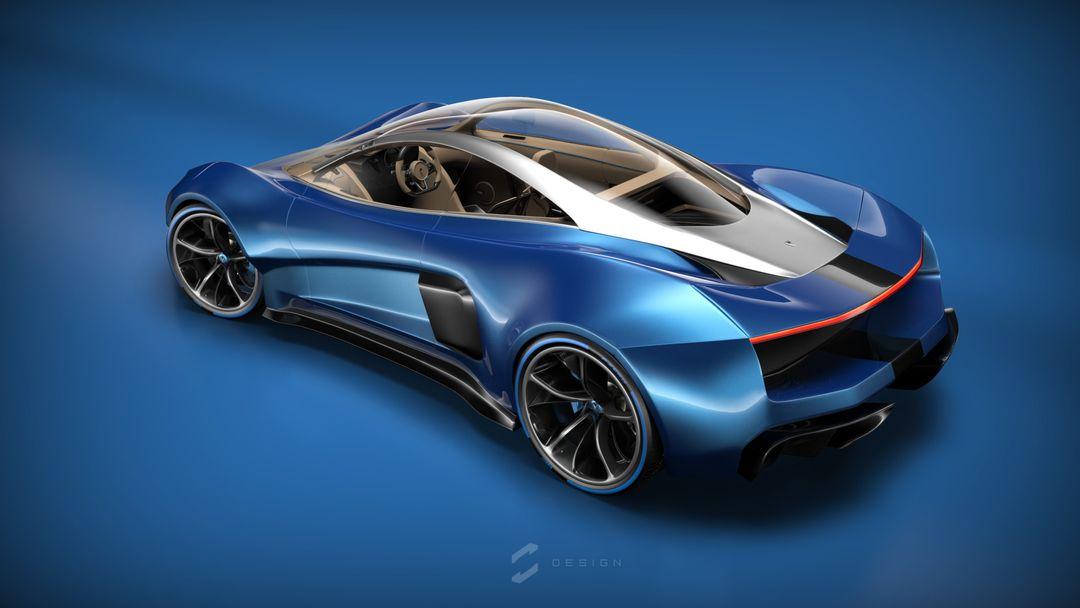 EX1 Concept Supercar sebas gomez ex1 studio blue jpg