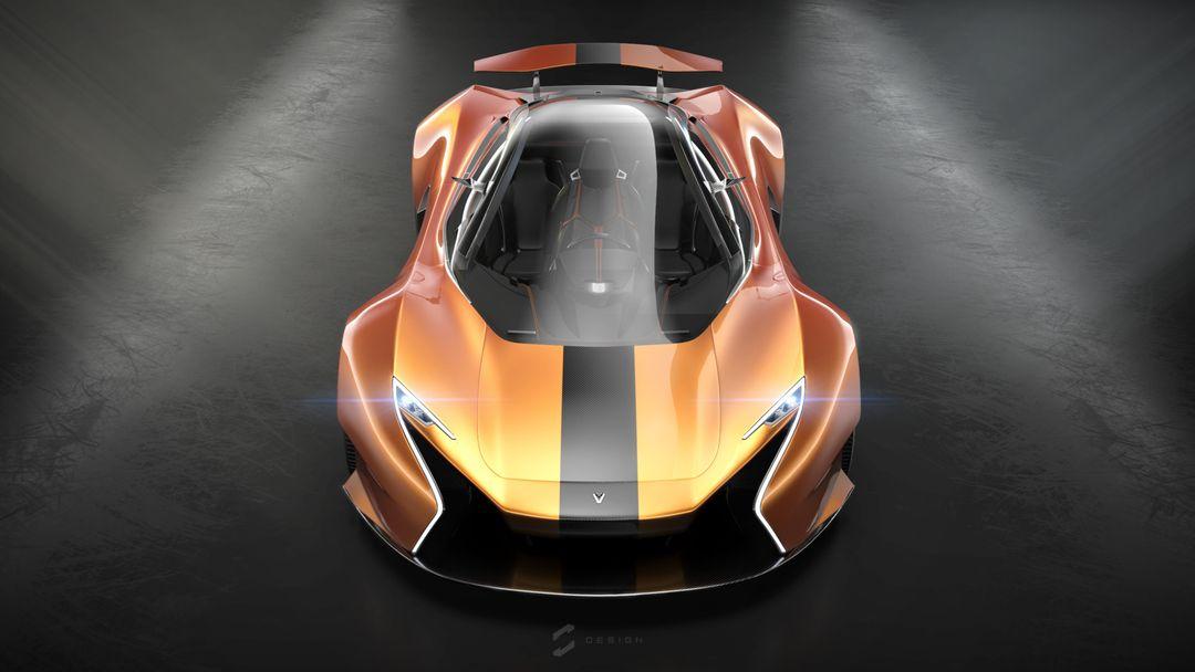 EX1 Concept Supercar sebas gomez ex1 studio orange front jpg