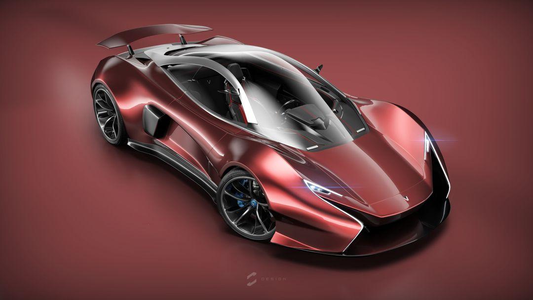 EX1 Concept Supercar sebas gomez ex1 studio red jpg
