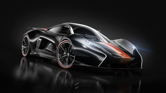 McLaren P1 3D Modeling and Keyshot Render