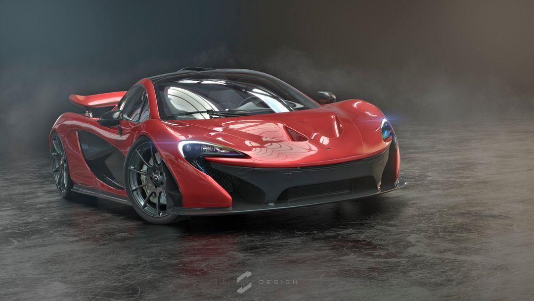 McLaren P1 sebas gomez p1 studio red png jpg