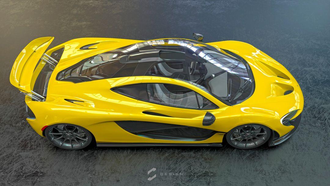 McLaren P1 sebas gomez p1 studio yellow png jpg