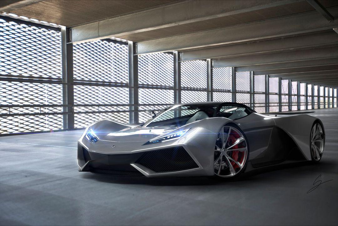 VX5 Concept Supercar sebas gomez vexor 5 parking jpg