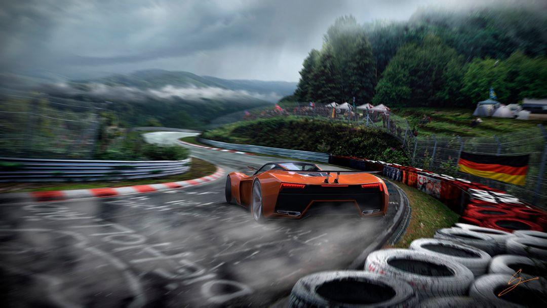 VX5 Concept Supercar sebas gomez vexor 5 ring drift jpg