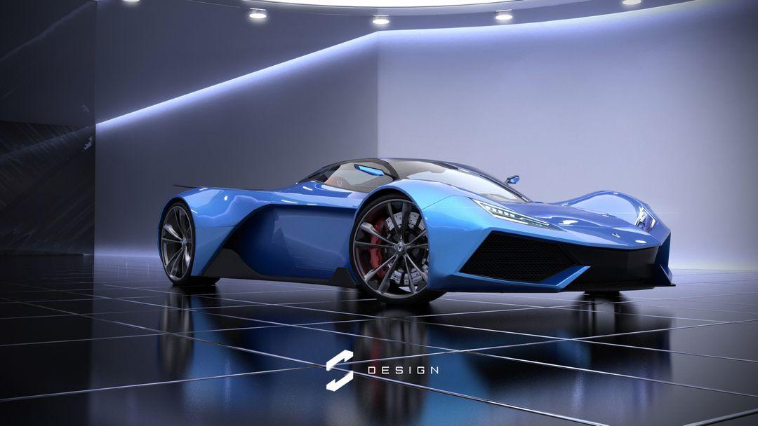 VX5 Concept Supercar sebas gomez vexor 5 studio blue jpg