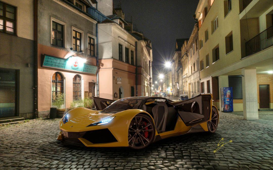 VX5 Concept Supercar sebas gomez vexor 5 yellow doors edit jpg
