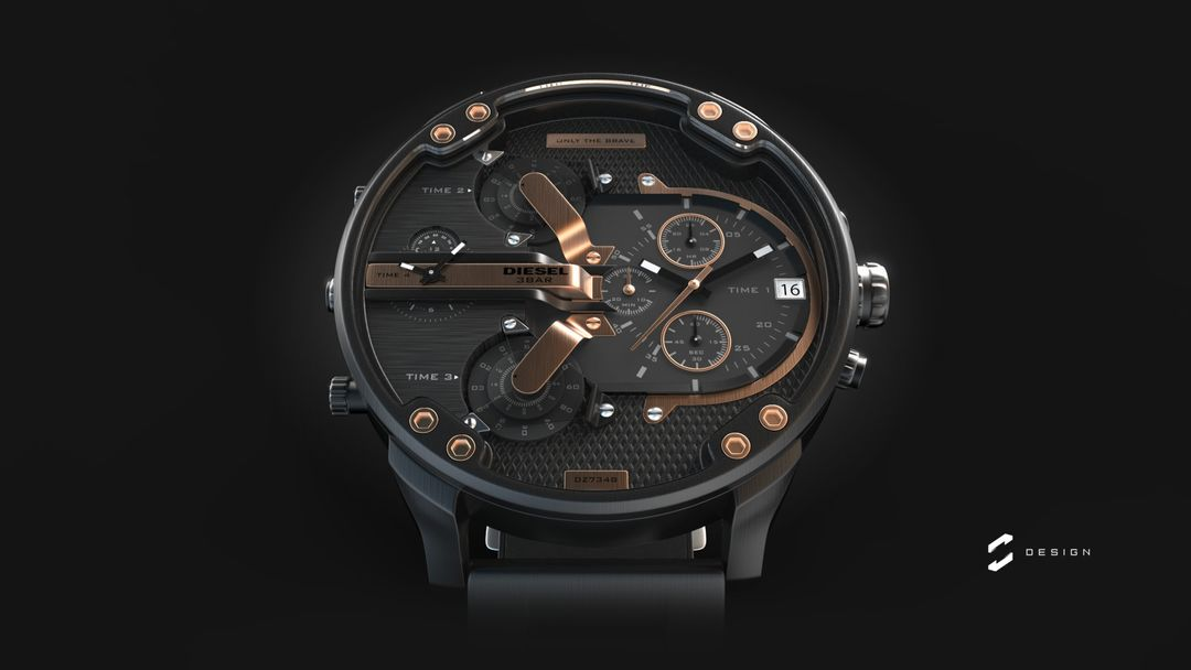 "Diesel Watch ""Mr. Daddy 2.0"" sebas gomez diesel watch 1 jpg"
