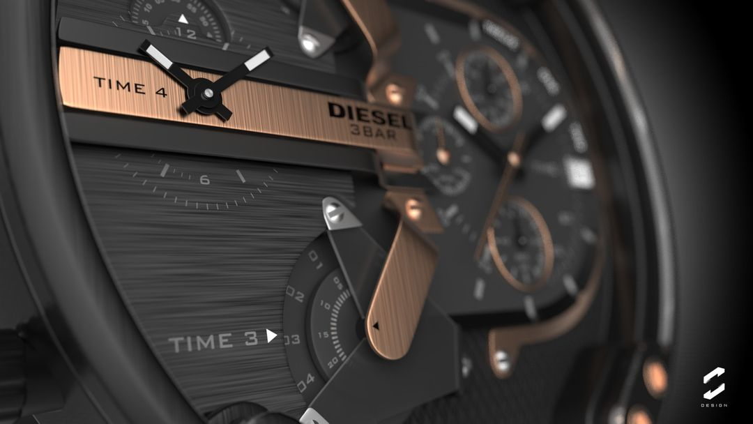 "Diesel Watch ""Mr. Daddy 2.0"" sebas gomez diesel watch 3 jpg"