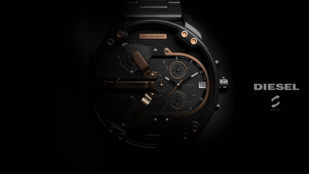 "Diesel Watch ""Mr. Daddy 2.0"" sebas gomez diesel watch 4 jpg"