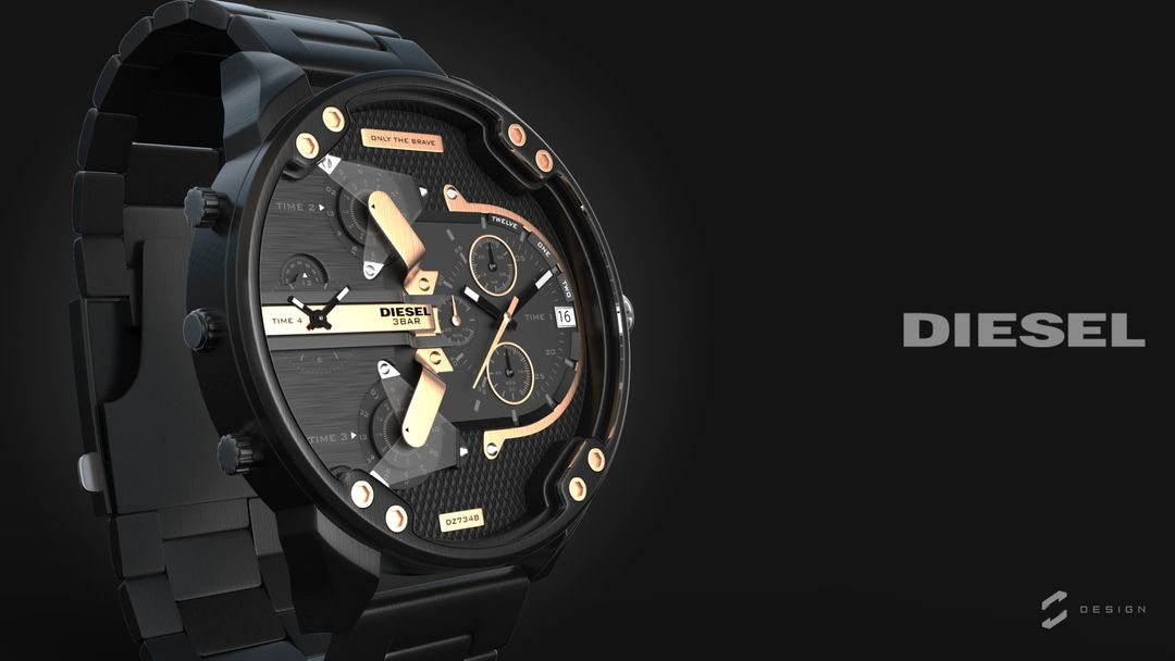 "Diesel Watch ""Mr. Daddy 2.0"" sebas gomez diesel watch 5 jpg"