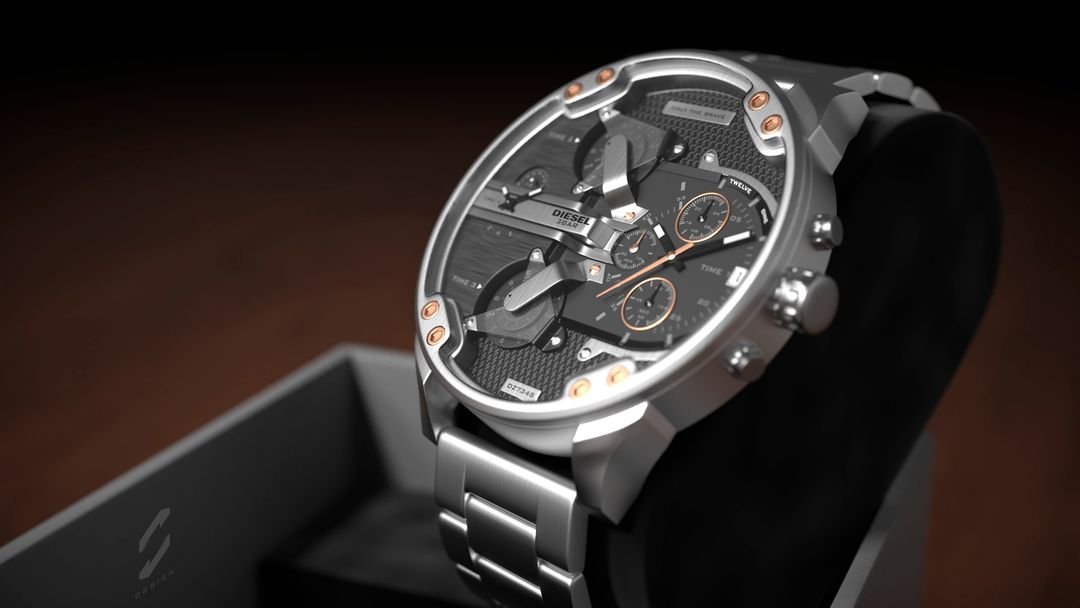 "Diesel Watch ""Mr. Daddy 2.0"" sebas gomez diesel watch 7 jpg"