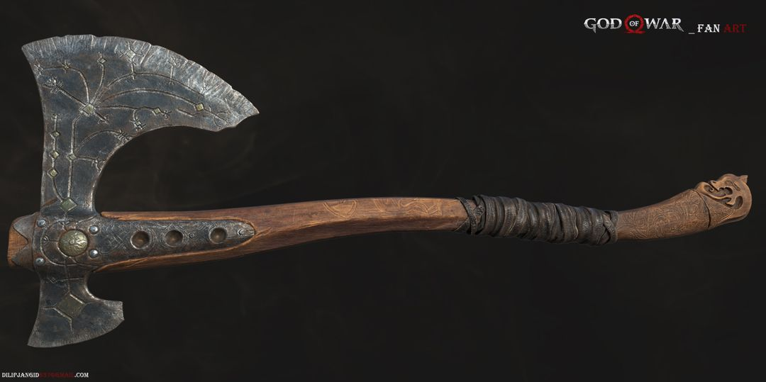 GOD OF WAR Fan ArT - Leviathan Axe Leviathan Axe001 jpg