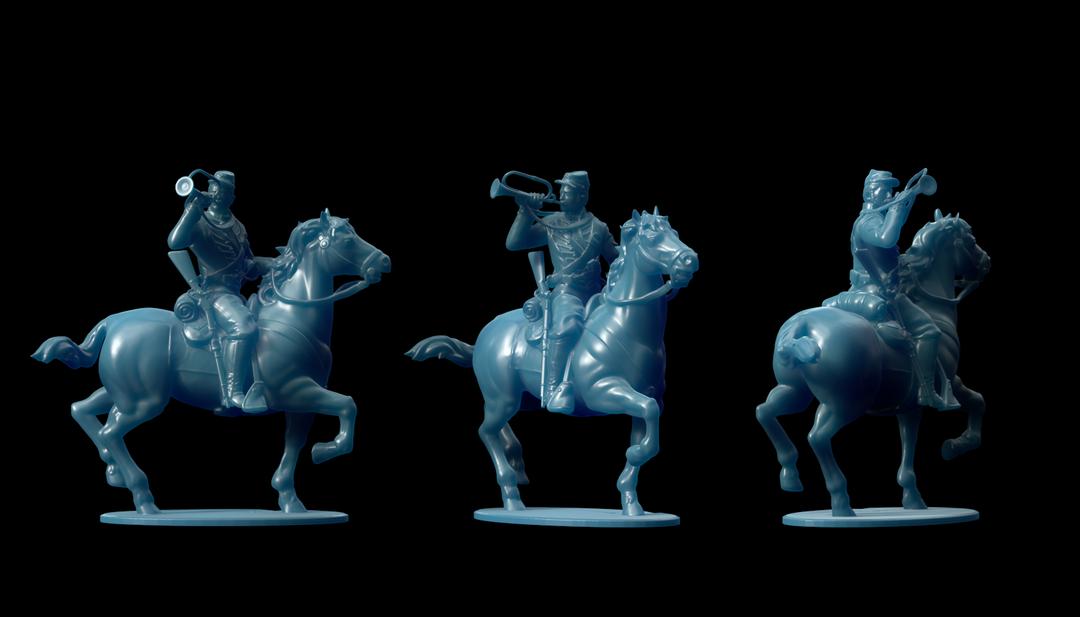Michigan 7th Cavalry Miniatures Bugler png