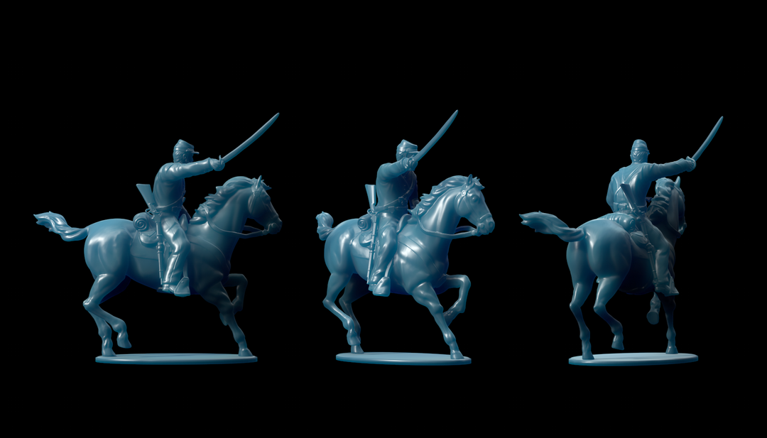 Michigan 7th Cavalry Miniatures Cavalry png