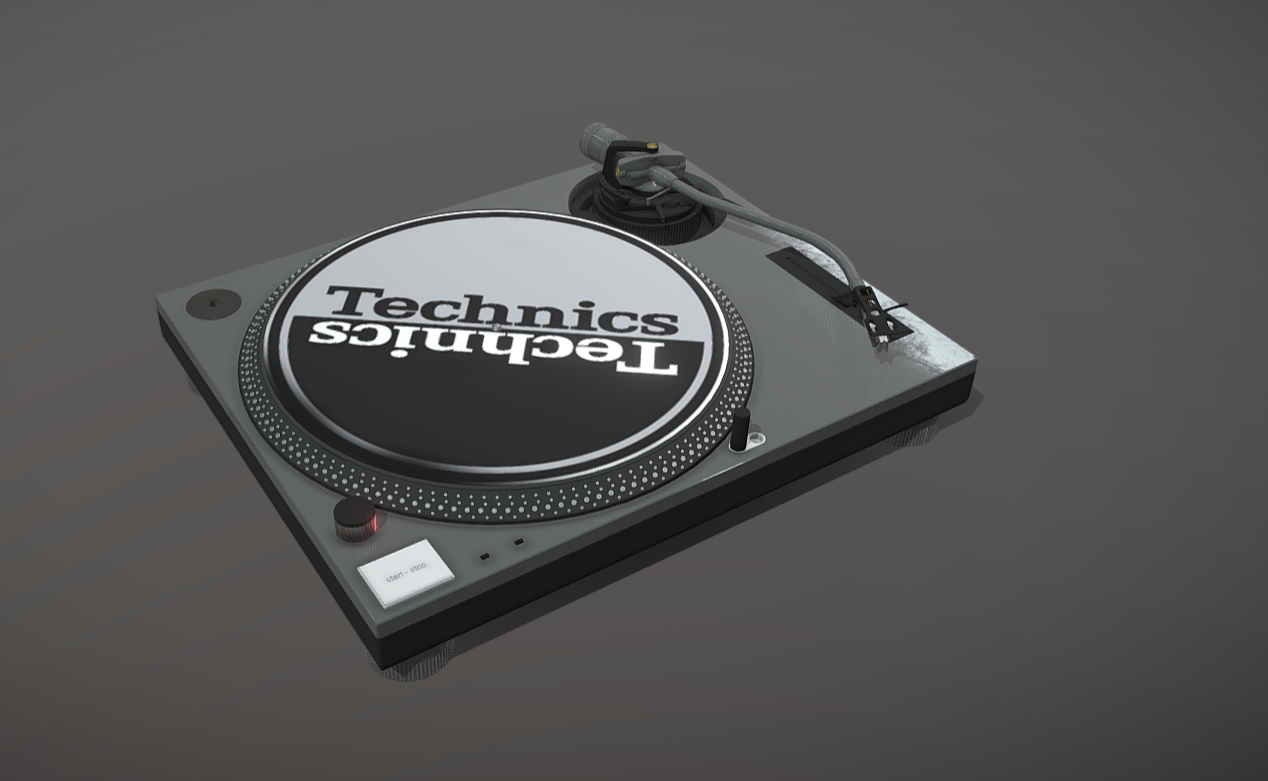 Technics MK2 High poly for visualisation