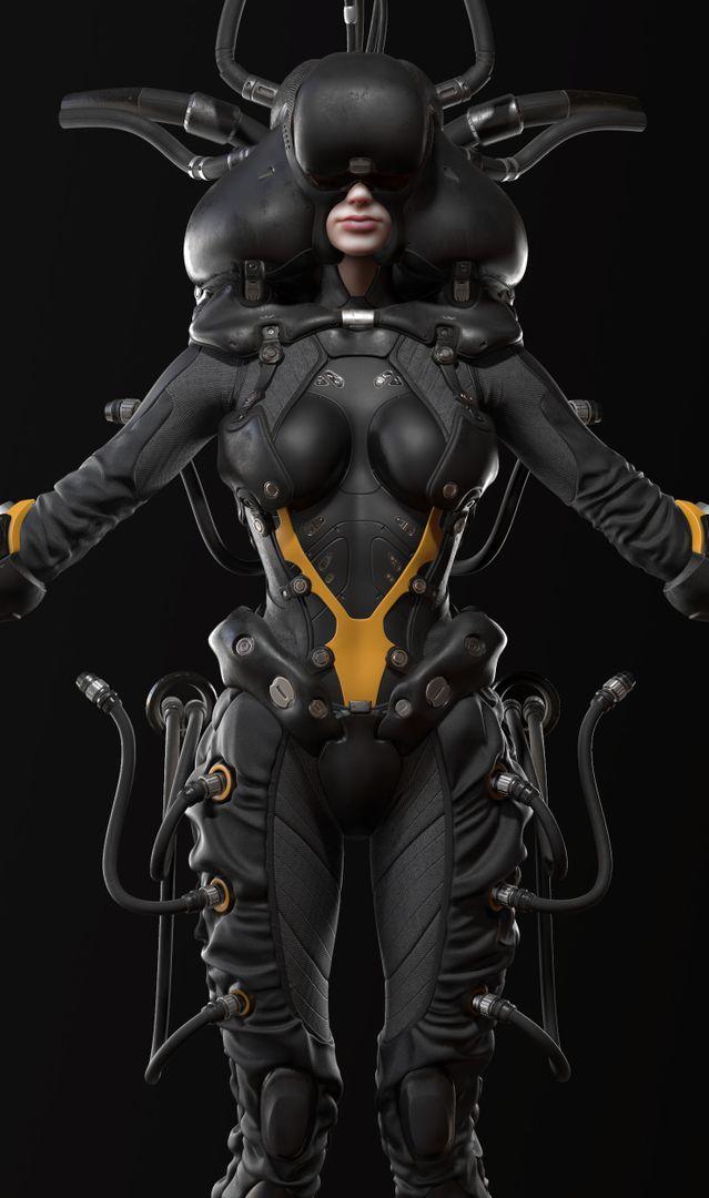 Sci-Fi Cyborg Pilot Cyborg Pilot 03 jpg