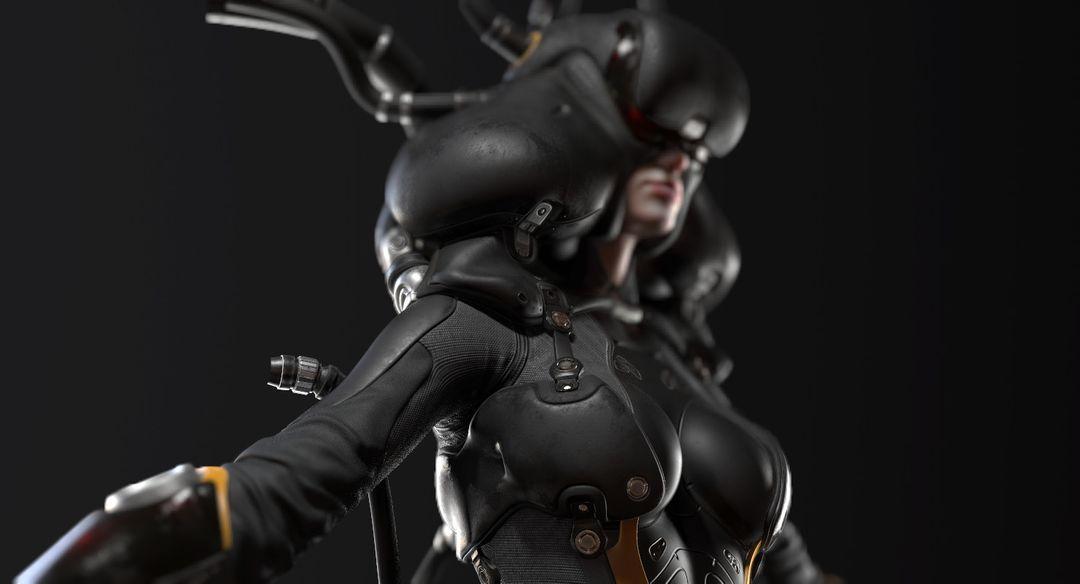 Sci-Fi Cyborg Pilot Cyborg Pilot 04 jpg