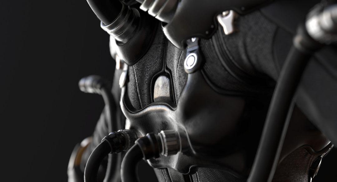 Sci-Fi Cyborg Pilot Cyborg Pilot 05 jpg