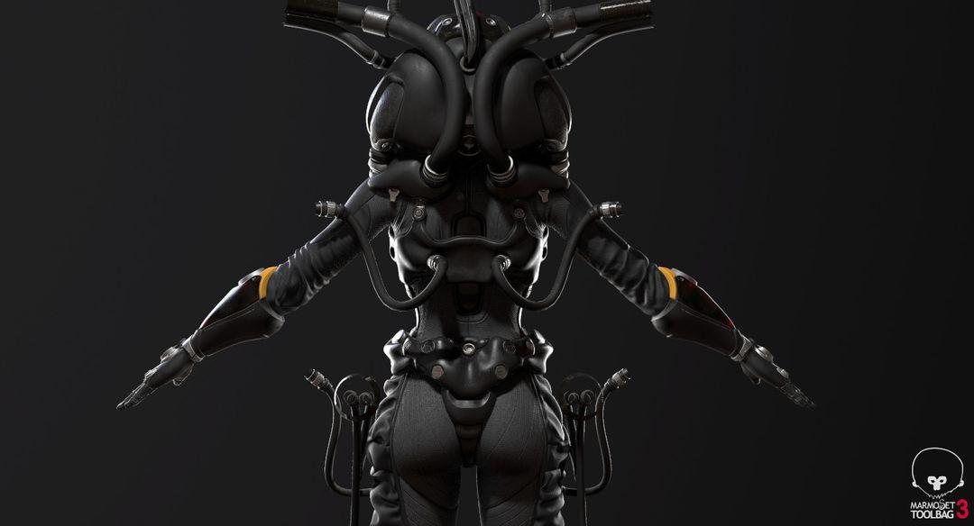 Sci-Fi Cyborg Pilot Cyborg Pilot 07 jpg