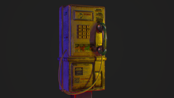 Retro Payphone - Prop Design