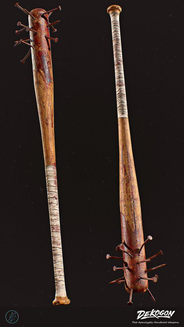 Wooden Bat With Nails Dekogon   Wooden Bat With Nails 02 jpg