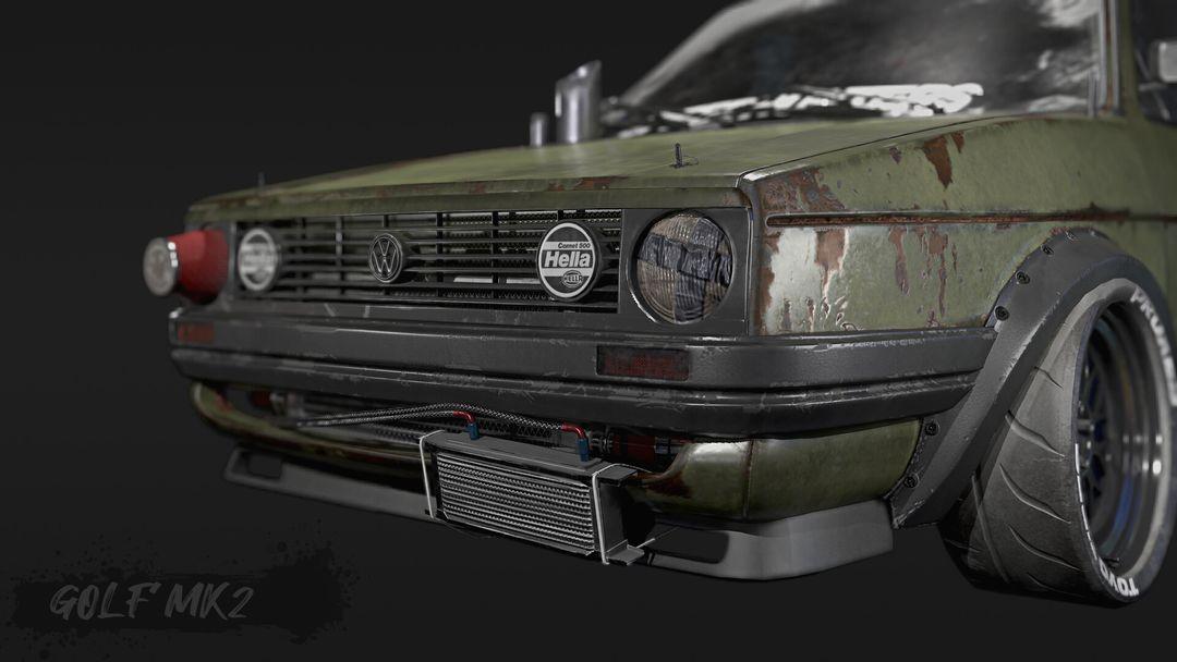 Tune And Beaten Up Volkswagen Golf Mk2 VWgolf 03 jpg