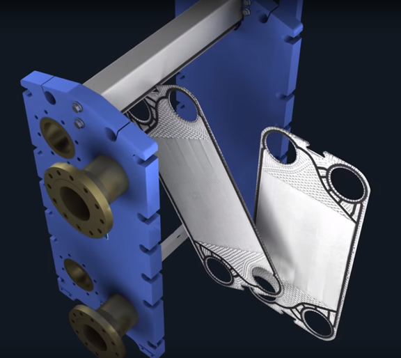 Heat Exchanger 3D Animation
