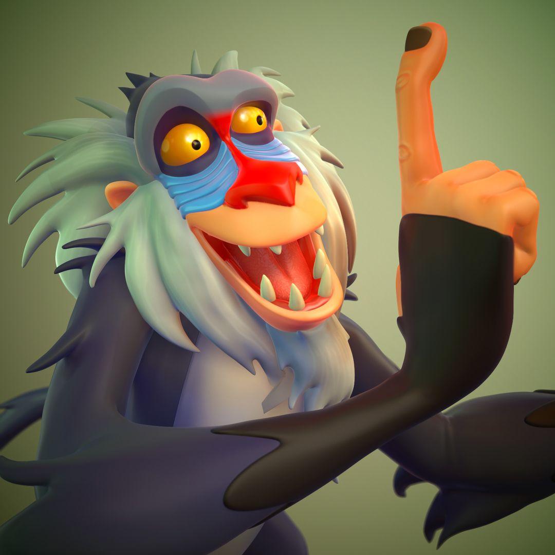 Rafiki Lion King FanArt weston reid rafiki closeup jpg