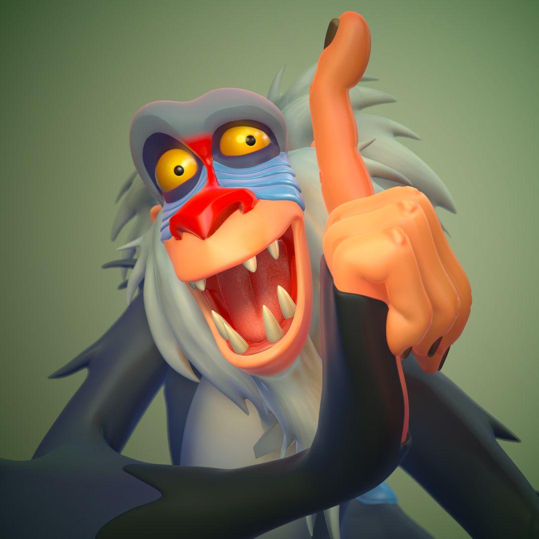 Rafiki Lion King FanArt weston reid rafiki closeup2 jpg
