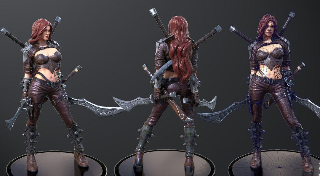 Female Assassin Model CGH47 6 jpg